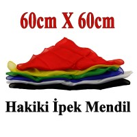 Hakiki ipek Mendil 60cm