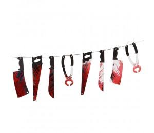 Kaçış Korkuevi Malzemeleri - Kanlı Kesici Aletler Dekorasyon