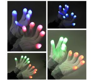 İlizyon ve Sihirbaz Malzemeleri - Led Işıklı Eldiven - Parti Eldiveni