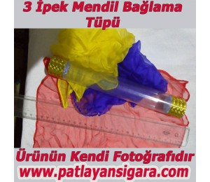 Kristal Tüp 3 ipek mendil Bağlama