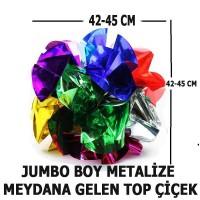 Meydana Gelen 45 cm Jumbo Boy Metalize Top Çiçek