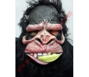 Maskeler - Latex Ağzında Muz Maymun Maske