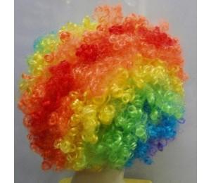 Karışık Şakalar - Palyaço Renkli Peruk Saç
