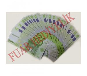 Düğün Parası Geçersiz Sahte 100 Euro Destesi